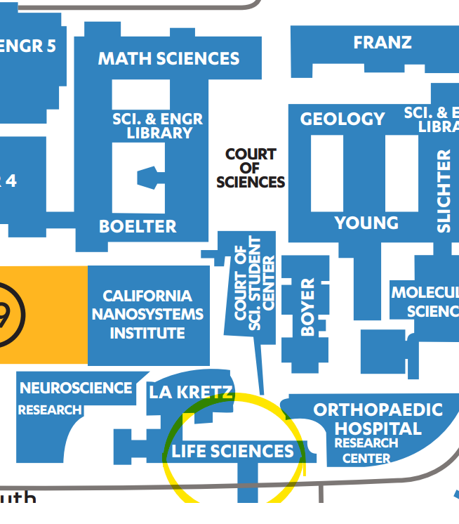 Map – Department of Life Sciences Core Education
